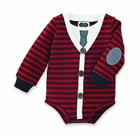 Mud Pie Little Gentleman Cardigan Crawler