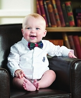 Mud Pie Boys Newborn Oxford Crawler