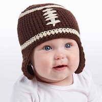 Mud Pie Chunky Football Knit Hat