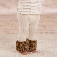 Mud Pie Leopard Fur Cable Knit Leggings