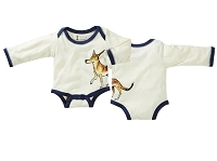 Janey Baby Bodysuit Wolf