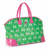 Mud Pie Green Giraffe Weekender