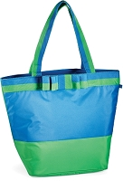 Mud Pie DLX Cooler Tote-Periwinkle/Clover