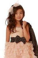 OOh La La Couture Blush Coco Tweed Bow Dream Dress