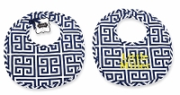 Mud Pie Navy Greek Key Bib