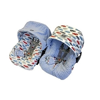 Itzy Ritzy Infant Car Seat Cover Rodeo/Blue