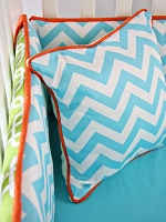 Caden Lane Bright Baby Green Square Pillow Cover