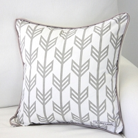 Caden Lane Gray Arrow Square Pillow Cover