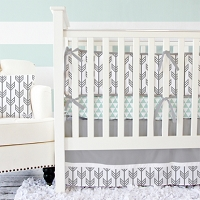 Caden Lane Gray Arrow Baby Bedding Swatch Kit