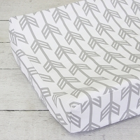 Caden Lane Gray Arrow Changing Pad Cover