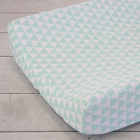 Caden Lane Mint Triangles Changing Pad Cover
