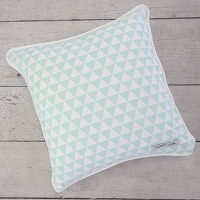 Caden Lane Mint Triangles Square Pillow Cover