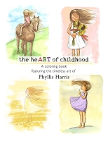 Adult Coloring Book - the heART of childhood by Phyllis Harris