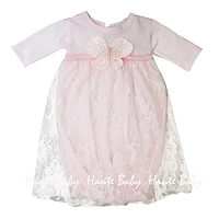 Haute Baby Butterfly Kisses Newborn Gown
