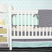 Caden Lane Eclectic Mint Baby Bedding Swatch Kit
