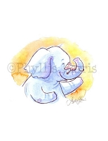 Elephant and Mouse Nursery Wall Art