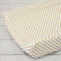 Caden Lane Gold Dot Changing Pad Cover