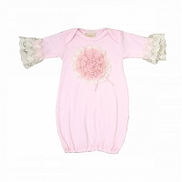 Haute Baby Pink Lullaby Newborn Gown