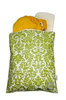 Itzy Ritzy Wet Bag Medium Damask Avocado
