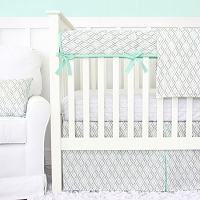 Caden Lane Micah's Mint Baby Bedding Swatch Kit