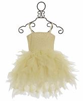 Ooh La la Couture Champagne Swarovski Devin High Low Dress