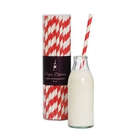 Paper Eskimo Paper Straw Candy Cane Red