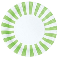 Green Apple paper plate
