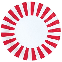 Candy Cane Red plate