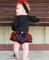 Buffalo Plaid Ruffled Butts
