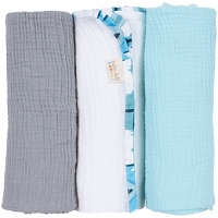 Baby Jar Mod Fish Swaddle Pack of 3
