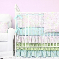 Caden Lane Sweet Caroline Ruffle Baby Bedding Swatch Kit