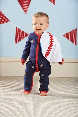 Mud Pie Sports Embroidered One-Piece