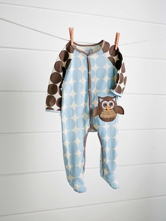 Mud Pie Boys Newborn Owl Footed One Piece