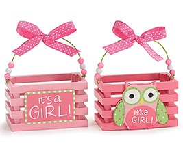 Burton & Burton Crate Wood Owl Box Girl