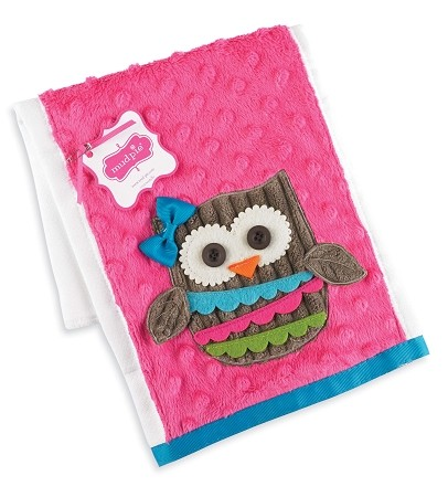 Mud Pie Forest Friends Owl Burp Cloth