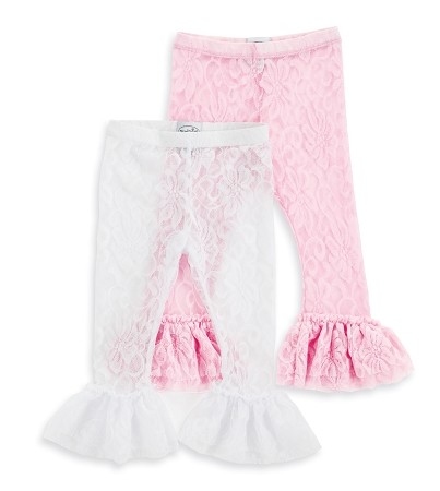 Mud Pie Baby Girl Light Pink Lace Leggings
