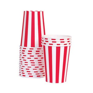 PAPER CUPS CANDY CANE RED by Paper Eskimo